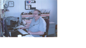 This is a picture of my grandfather a few years before he got terribly ill. He's working in his office (which is located at his house) and even though I'd like to remember him for this picture – him doing something he loved – I can't help but remember him through the above story.