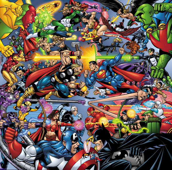 superhero rivalry