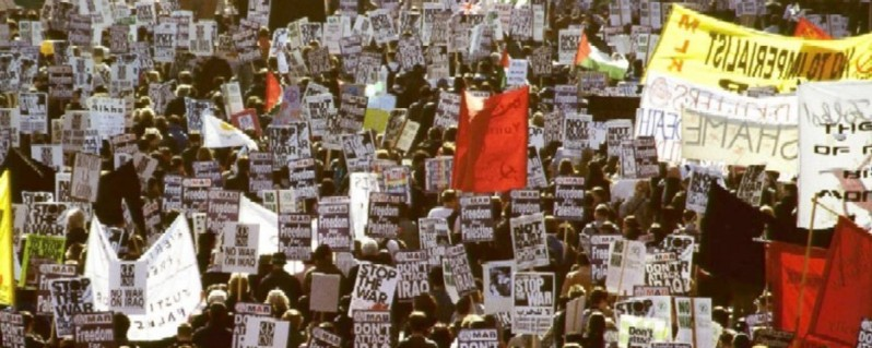 Anti-war protest from 2003 over the Iraq invasion.