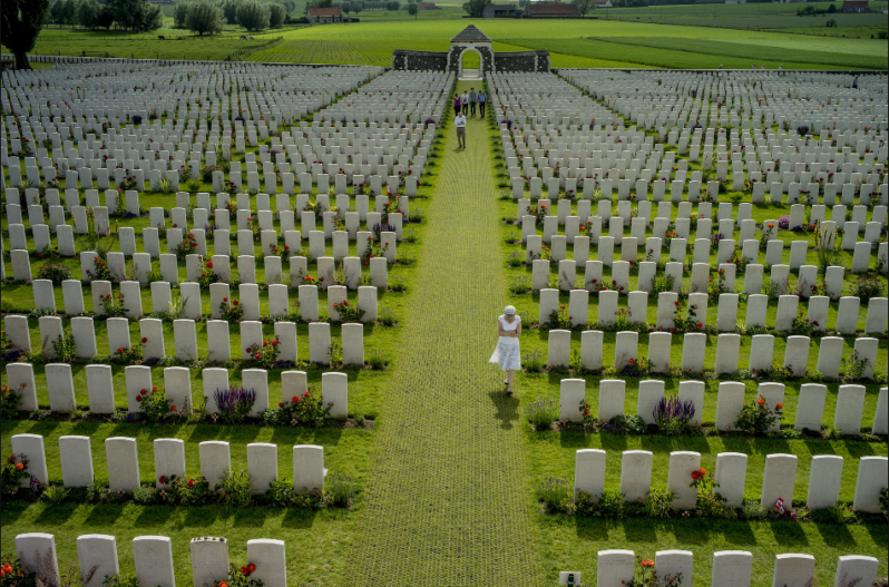 Tyne Cot Cemetery, Belgium 06/07/2014 Almost a century after World War I erupted, people visited a cemetery where nearly 12,000 soldiers are buried. Tomás Munita for The New York Times